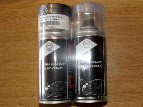 Paint spray kit, genuine Mazda, 25G, Titanium Grey